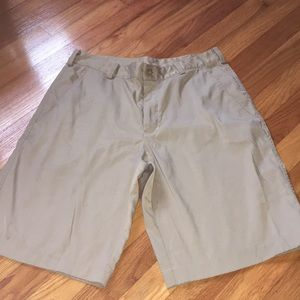 Men's Nike gold Dri-fit khaki shorts